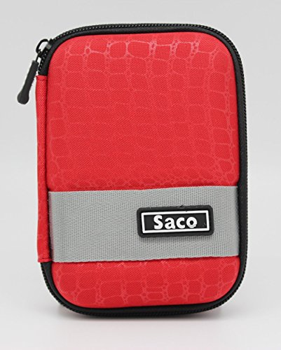 Saco External Hardisk Hard Case for Seagate Backup Plus Slim 1 TB External Hard Disk - Red