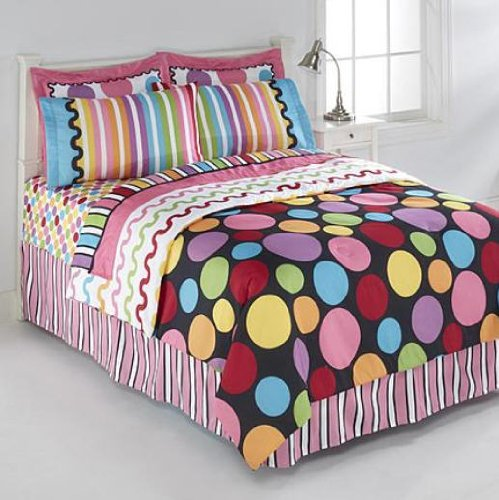 Polka dot bedding totally kids totally bedrooms kids for Polka dot bedroom designs