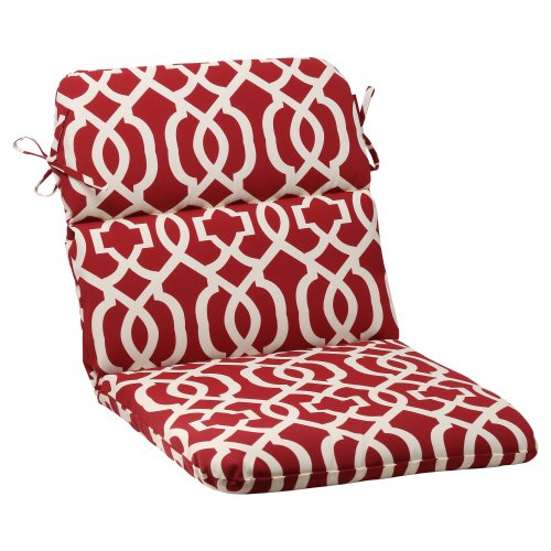 Pillow-Perfect-IndoorOutdoor-New-Geo-Rounded-Chair-Cushion-Red