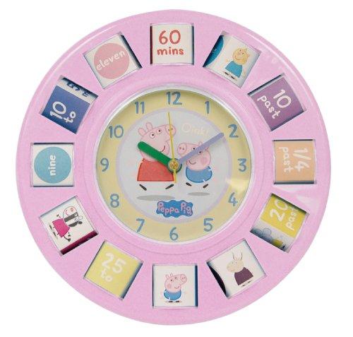zeon-ltd-orologio-da-parete-zeon-peppa-wutz-tisch-mit-rotierenden-blocken-pink