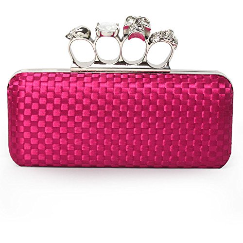 Your Gallery Women's Bling Knuckle Duster Silk Case Clutch Bag