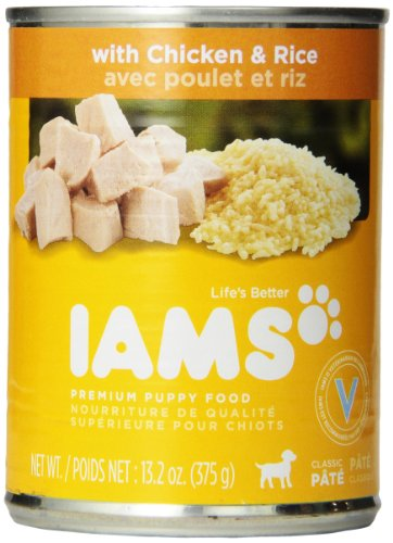 Iams Proactive Health Puppy Food, Ground Savory Dinner With Chicken & Rice, 13.2-Ounce Cans (Pack Of 12)