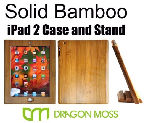 Bamboo Case and Stand for iPad 2 and iPad 2 3G