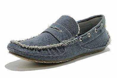 True Religion Men's Indie Fashion Slip On Loafer Shoes (12, Navy)