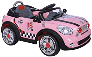 Mini Convertible Style Kids Ride On with Rechargeable Battery (Pink)