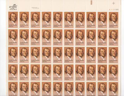 Joseph Priestly Sheet of 50 x 20 Cent US Postage Stamps NEW Scot 2038