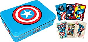 Aquarius Captain America Playing Card Tin