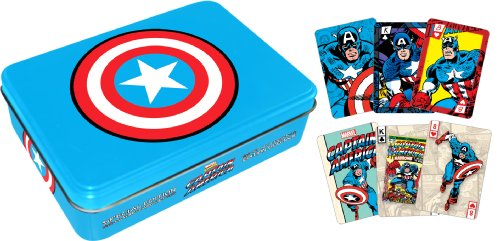 Aquarius Captain America Playing Card Tin