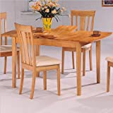 Coaster Dinner Room Furniture Natural Finish Dining Table w/Butterfly Leaf thumbnail