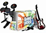 echange, troc Guitar Hero (Band Hero) : jeu + micro + batterie + guitare
