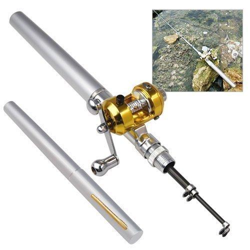 accessotech-poche-argente-mini-stylo-canne-a-peche-moulinet-dore-forme-de-voyage-93-cm