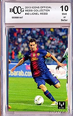 Lionel Messi Official Card Collection Lionel Messi Graded HIGH BECKETT 10 MINT Featuring Messi in his FC Barcelona Uniform ! Awesome High Grade Card of World's Biggest & Best Soccer Superstar!!
