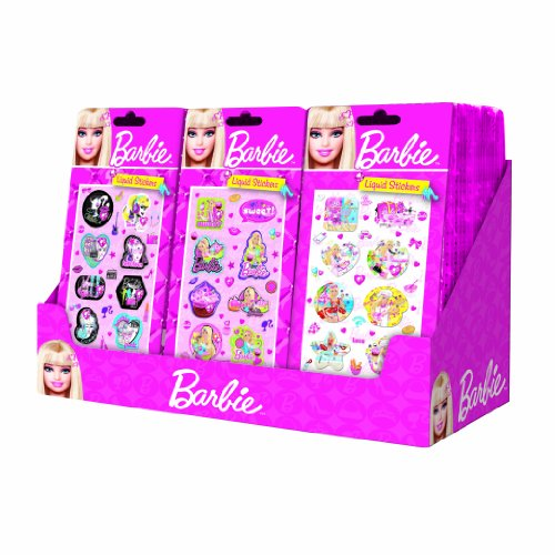 Disney Barbie Liquid Sticker on a Gift Card Set Clearance!