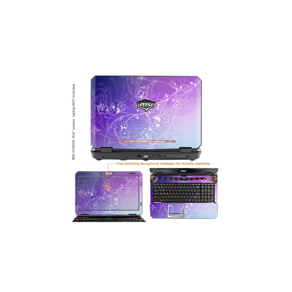 Protective Decal Skin Sticker for MSI GT683R GT683DXR with 15.6 in Screen case cover GT683R 213 Electronics