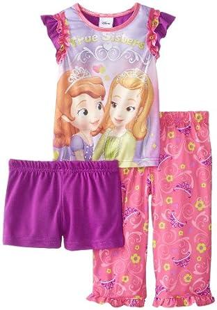 Sofia the First Little Girls'  Princess Sofia 3 Piece Pajama Set, Assorted, 4