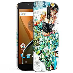 Theskinmantra Collage girl Back cover for Moto G4 PLus