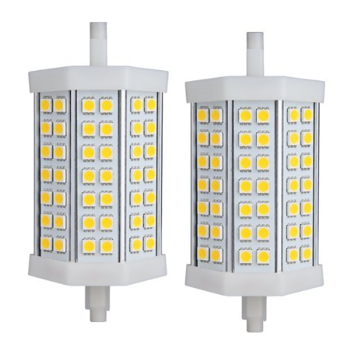 Sodial(R) 2X R7S J118 Dimmable 42 Smd Led Warm White Light Lamp Bulb 118Mm
