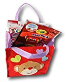 Love Monkey Felt Favor Bag - Containing Monkey Doll, Stickers, Coloring Set, Pencils, Candy