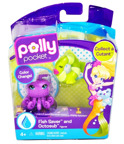 Buy Low Price Mattel Polly Pocket Collect a Cutant Series 1-1/2 Inch Mini Cutant Figure – Fish Saver and Octosub (B004GYUE5M)