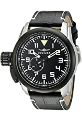 Invicta Men's 20461SYB Aviator Analog Display Quartz Black Watch