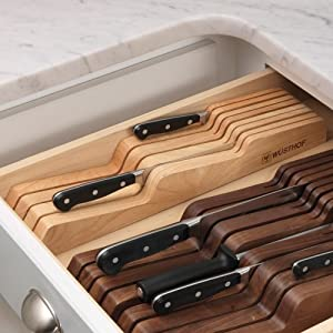 7 Slots In-Drawer Knife Storage Tray in Beechwood