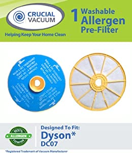 Crucial Vacuum Dyson DC-07 Washable & Reusable Pre-Filter, Replaces Dyson DC07 Pre-Motor Filter Part # 904979-02 (90497902); Designed & Enginee at Sears.com