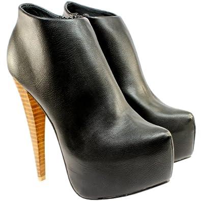 High-Heels-Stiefeletten: Damen Schuhe Stiefeletten High Stiletto Heel Ankle Shoe Boots - Schwarz