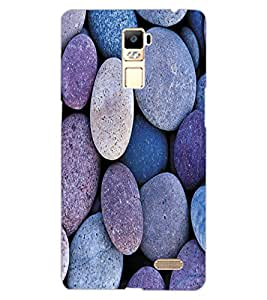 ColourCraft Stone Pattern Design Back Case Cover for OPPO R7