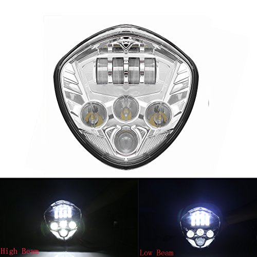 Led Headlight Kit 40W Cree Headlamp Chrome Driving Lights Auxiliary Lamp for Victory Cross-Country Motorcycle Led Lighting 2010-2015 (Motorcycle Driving Lights Chrome compare prices)