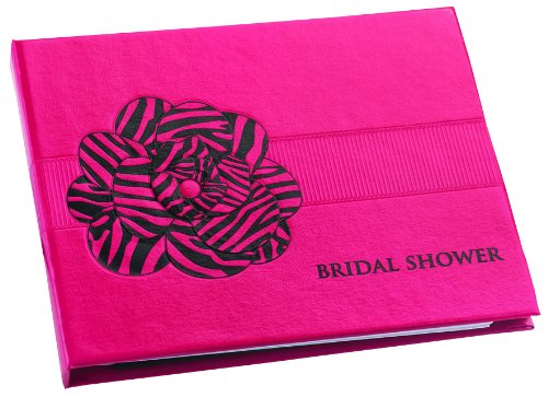 Hortense B. Hewitt Wedding Accessories Fuchsia Zebra Print Guest Book For Bridal Showers front-1046131
