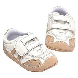 LINKEY Baby Boys Girls First Walker Slip On Soft Sole Velcro Sneaker Non Slip Crib Shoes Size L