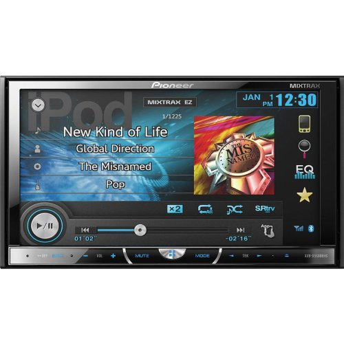"Pioneer Two-Din In-Dash Multimedia Car Dvd Receiver And Free Built-In Hd Radio With 7"" Inch Wvga Touchscreen Display, Bluetooth Hands Free & Siri Eyes With Iphone 4S Or Iphone 5/5S/5C, Siriusxm Ready, Features Mixtrax, And Appradio Mode For Iphone 4S And"