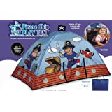 """LARGE 65"""" COLORFUL INDOOR/OUTDOOR PIRATE SHIP PLAY TENT WITH CARRY BAG"""