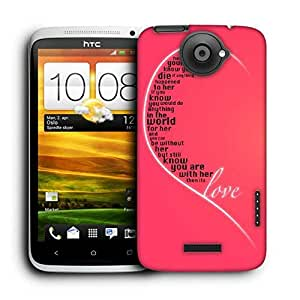 Snoogg Valentines Day Girly Love Printed Protective Phone Back Case Cover For HTC One X