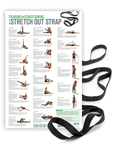 Extra-Long Stretch Out Strap XL with Training & Conditioning Poster (Stretching Chart compare prices)