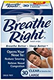 Breathe Right Nasal Strips, Large, Clear, 30-Count Boxes (Pack of 2)
