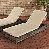 Sonnenliegen-Set Bario mit Sitzauflagen