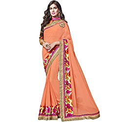 Vasu Saree Orange Georgette Designer Saree