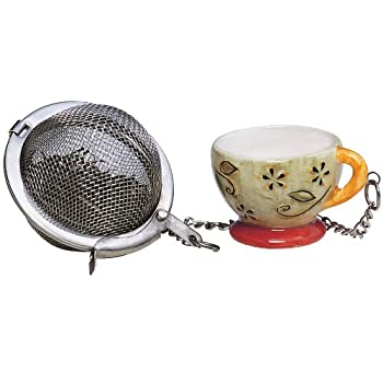 Tea Cup Infuser with Ornament