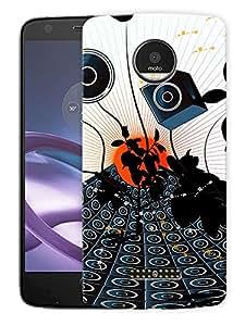 "Speaks And MusicPrinted Designer Mobile Back Cover For ""Motorola Moto Z"" (3D, Matte, Premium Quality Snap On Case)"