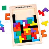 SainSmart Jr. CB-23 Wooden Tangram Jigsaw Tetris Puzzle Toy, Educational Game (40 Pieces) (Discontinued by manufacturer)