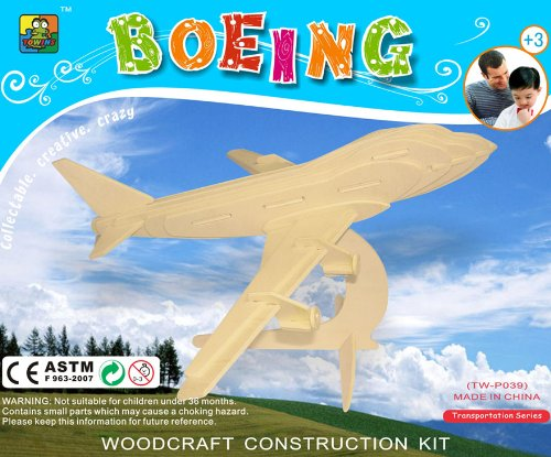 Cheap China Towins Gifts & Toys 3d Wooden Puzzle-boeing 747 (B0037BAU2W)