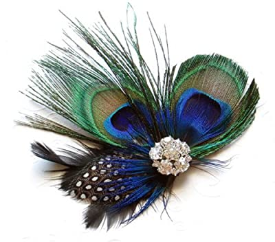 Unique Design of Peacock Feather Hair Accessories for Women