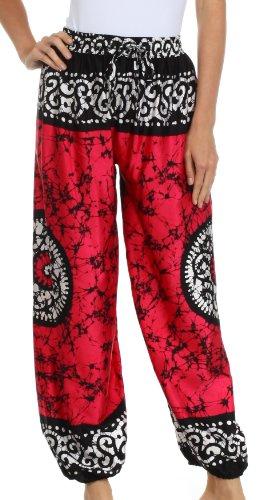 sakkas-1t-sephora-wide-leg-silky-harem-pants-pink-one-size