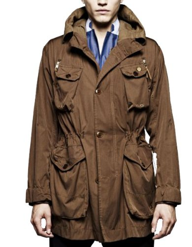 Mens G Star CL Aged Olive Canyon Hooded Parka Jacket B81 (Medium)