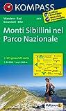Monti Sibillini nel Parco Nazionale: Wanderkarte mit Radtouren. GPS-genau. 1:50000