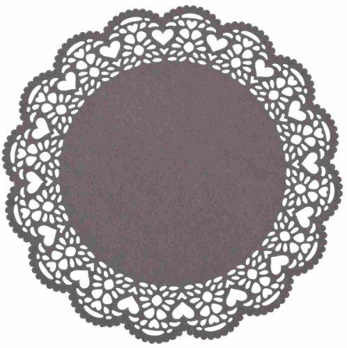 Tischdeckchen Herzen Dunkelgrau ca. Ø 35 cm