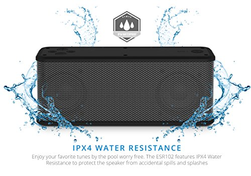 Ematic ESR102 RuggedLife Water Resistant Bluetooth Speaker & Portable Charger for iPhone, iPad, Android & more at Electronic-Readers.com
