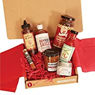 Gourmet Artisan Sauces & Spices Gift Box -Grilling rubs and meat marinades for pit masters and…