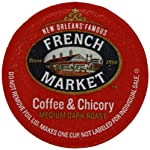 French Market Coffee Roast Single Serve Cups, Dark Roast Coffee and Chicory,12 count made by French Market Coffee Roast Singe Serve Cups